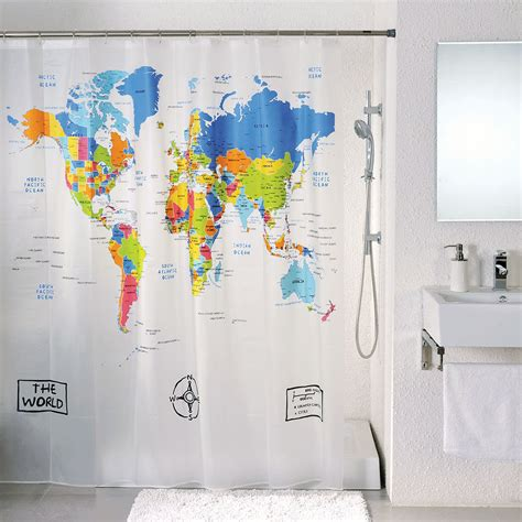 World Map Shower Curtains The Best 2015 World Map Shower Curtain Visit Us Now