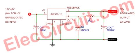 Switching Power Supply 12v 3a 12v 3a switching regulator circuit using lm2576 12