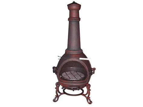 Log Burner Chiminea Chimenea Large Cast Iron 1 32m Chiminea Garden Wood