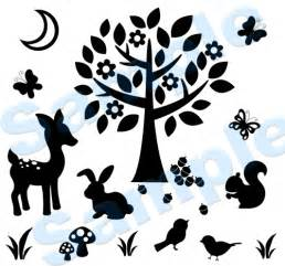 Deer Wall Murals decamp studios woodland animals silhouette wall mural