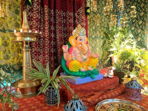 diy ganpati decoration  sarees   brick   time