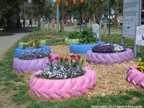 tire flower beds llantas jardineria pinterest