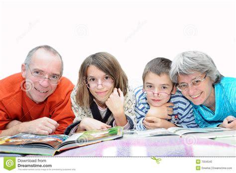 family wearing glasses stock photo image 7054540