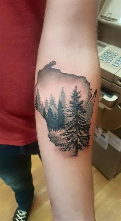 wisconsin tattoos 25 best ideas about wood on tree thigh
