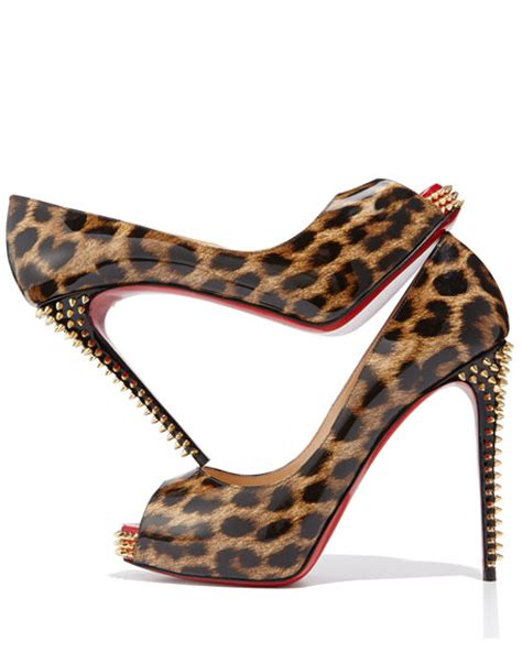 Chain Leopard Louis Vuitton Shoes by Christian Louboutin Nvps Leopard Print Sole