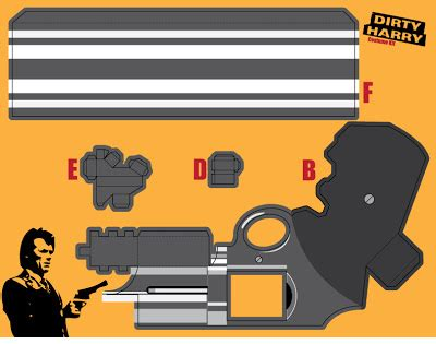 Papercraft Gun Templates - shooting paper gun template images
