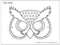 owl mask printable templates amp coloring pages firstpalette