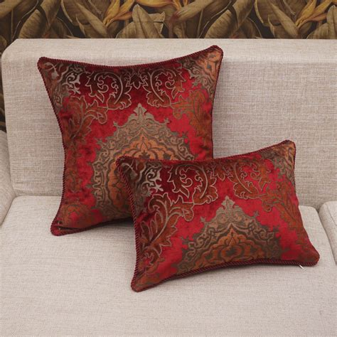 red couch cushions how to give new look to the sofa interior designing ideas