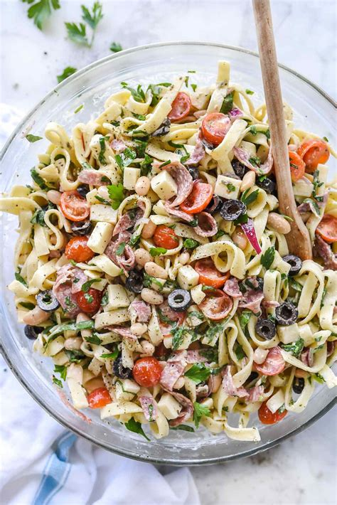 creamy pasta salad cooking for my dad creamy tuscan pasta salad foodiecrush com
