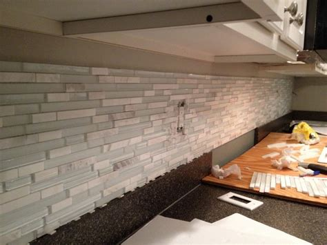 how to mix grout for backsplash how to seal marble tile mixed with glass home
