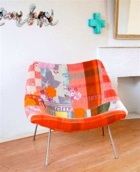 Diy Patchwork - patchwork chairs and stools to make