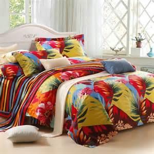 Tropical Bedding Set Tropical Leaf Pattern Size Bedding Sets