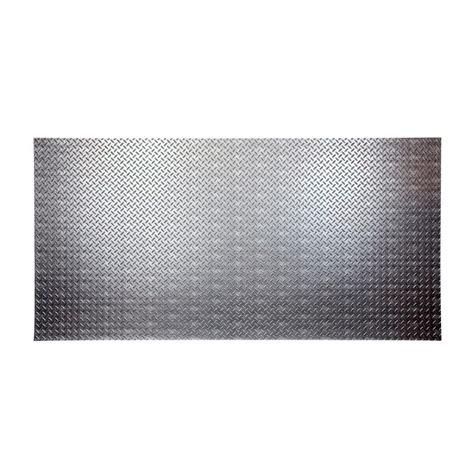 fasade diamond plate 96 in w x 48 in h x 0 013 in d fasade diamond plate 96 in x 48 in crosshatch silver