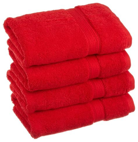 red towels bathroom luxurious egyptian cotton 900 gram 4 piece red hand towel