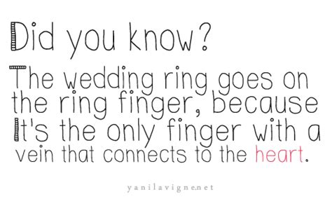 did you the wedding ring goes on the ring finger
