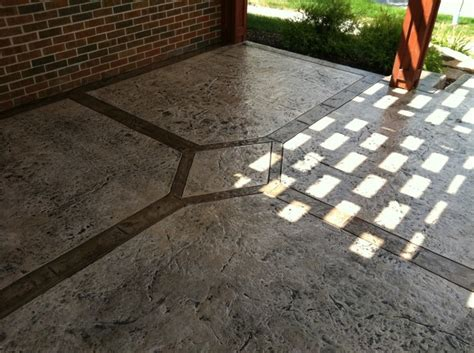 decorative concrete patio lima ohio sted concrete
