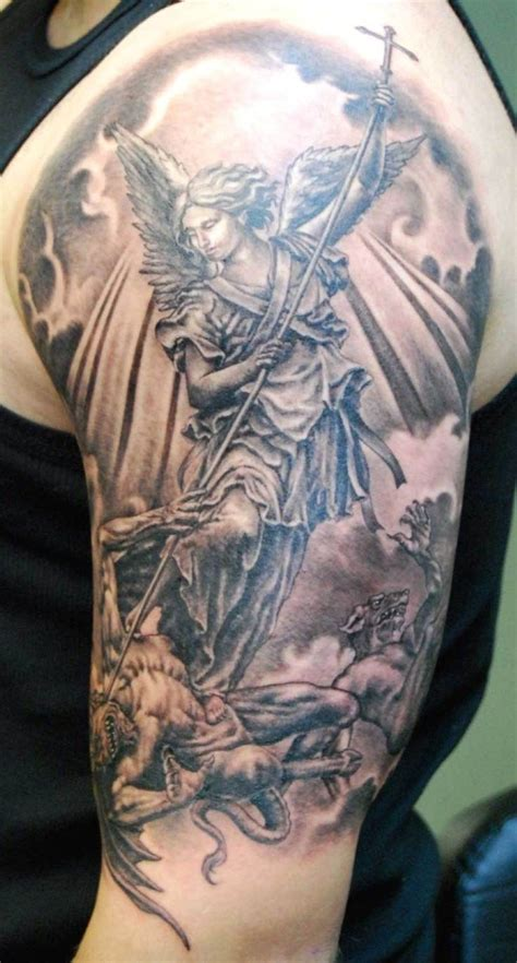 fighting angel tattoo designs 63 fantastic shoulder tattoos