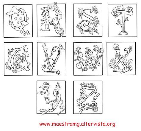lettere miniate da colorare seconda classe lingua italiana maestra mg