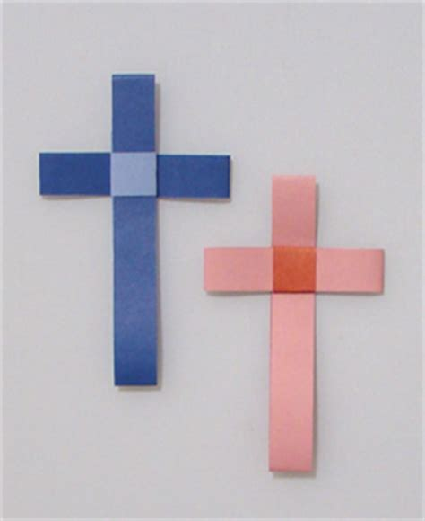 How To Make A Origami Cross - easter cross