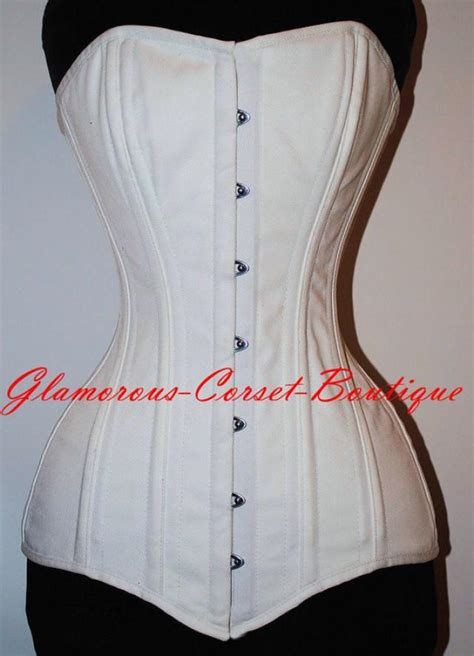 Korset Line Korset white cotton corset heavy authentic line corset