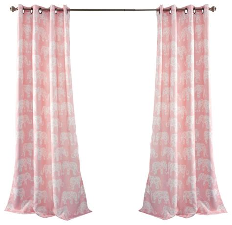elephant window curtains elephant parade window curtain set pink curtains by