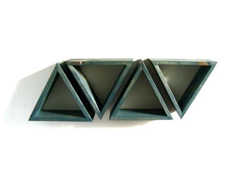 triangle wall shelf triangle wall shelf set of 4 deep teal repurposed