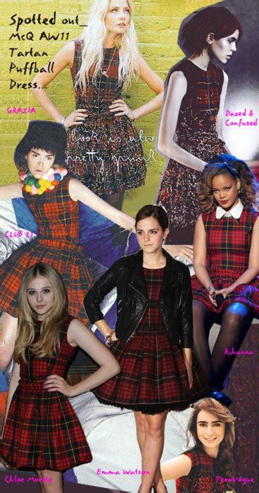 Cimo Dress 1 plaid mcqueen tartan puffball dress fashion sizzle