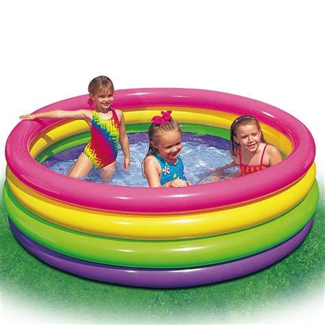 piscine gonflable 37 intex piscine gonflable enfant arc en ciel sunset glow 4
