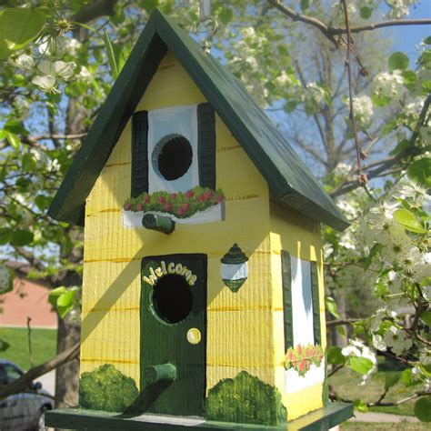 design house decor etsy hand painted birdhouse by paintbrushedboutique on etsy