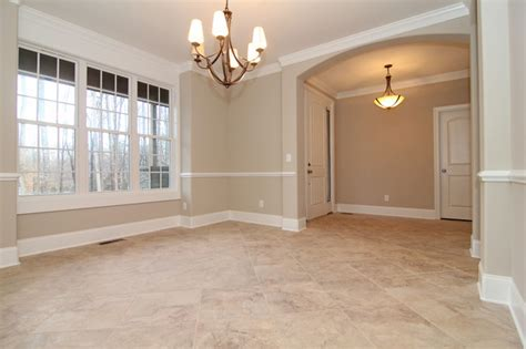 formal dining room with tile floors modern dining room