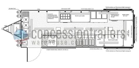 concession trailer floor plans food concession trailer floor plans food trailer floor plans