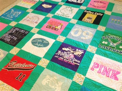 T Shirt Quilt Blocks by T Shirt Quilt Custom Made Order By The Block Tshirt Quilt