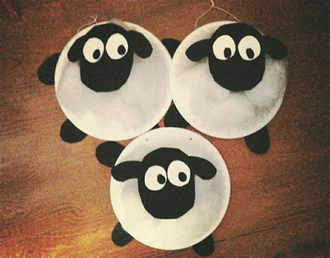 Paper Plate Sheep Craft - shaun the sheep fiber paper plate crafts