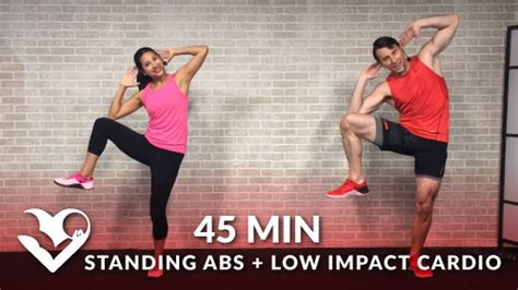 min standing abs  impact cardio workout hasfit