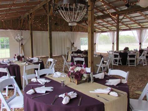 purple wedding linen tablecloth burlap   Yahoo Image