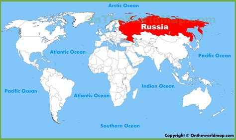 world map moscow russia location on the world map