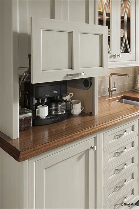 appliance lift cabinet traditional kitchen houston