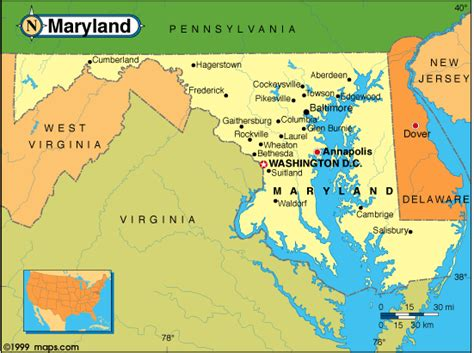 united states map of maryland maryland map and maryland satellite images