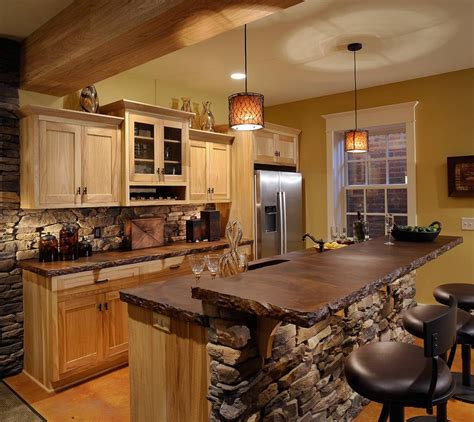 stone bar tops beautiful rustic kitchen designs exposing the beauty of