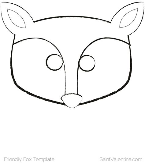 template of a fox wolf mask template search results calendar 2015