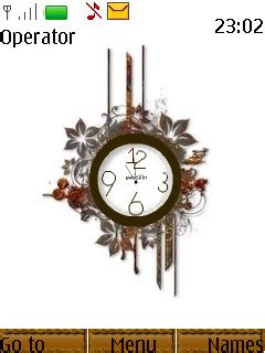 themes swf clock download swf floral abstract clock nokia theme mobile toones