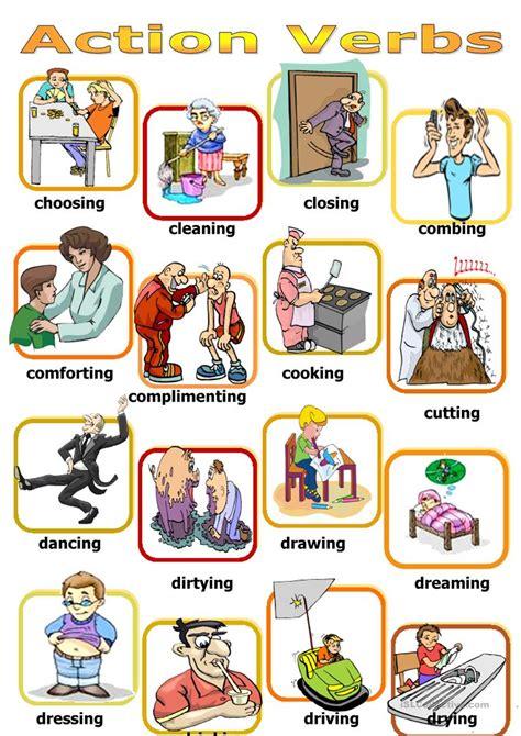 verb pattern board game action verbs board game worksheet free esl printable