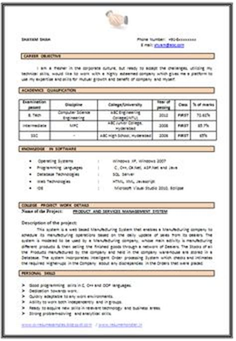 Sle Resume For Cse Students by Resume Sle In Word Document Mba Marketing Sales