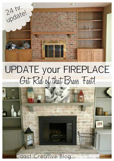 how to update your house brass fireplace update east coast creative blog