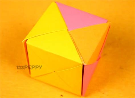 How To Make A Paper Cube Easy - origami crafts project ideas 123peppy