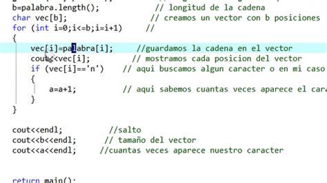 cadenas en c programacion dev c string longitud vector cadena