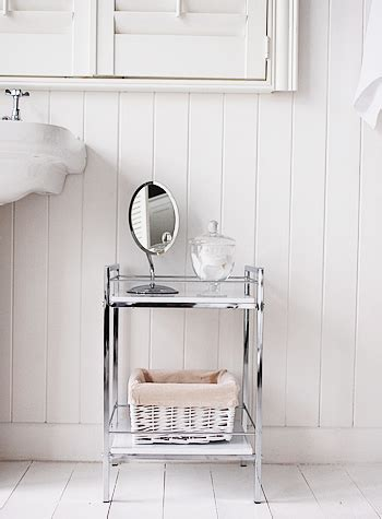 Small Shelving Unit For Bathroom White Gloss And Chrome Small Bathroom Shlelf For Small Spaces