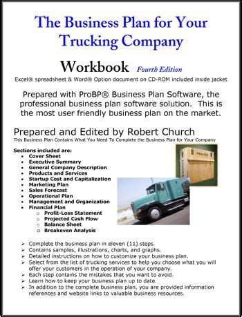 trucking business plan template the business plan for your trucking company