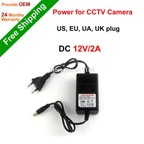 Adaptor Cctv 12 V 2 0a Bergaransi 1 Tahun free shipping cctv accessories power supply dc 12v 2a power adapter for cctv us eu ua