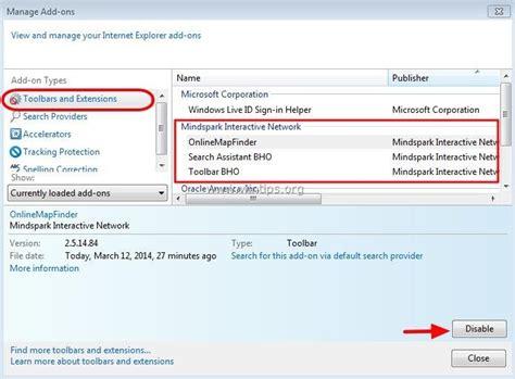 uninstall ask toolbar windows 7 how to remove quot onlinemapfinder quot toolbar browser hijacker